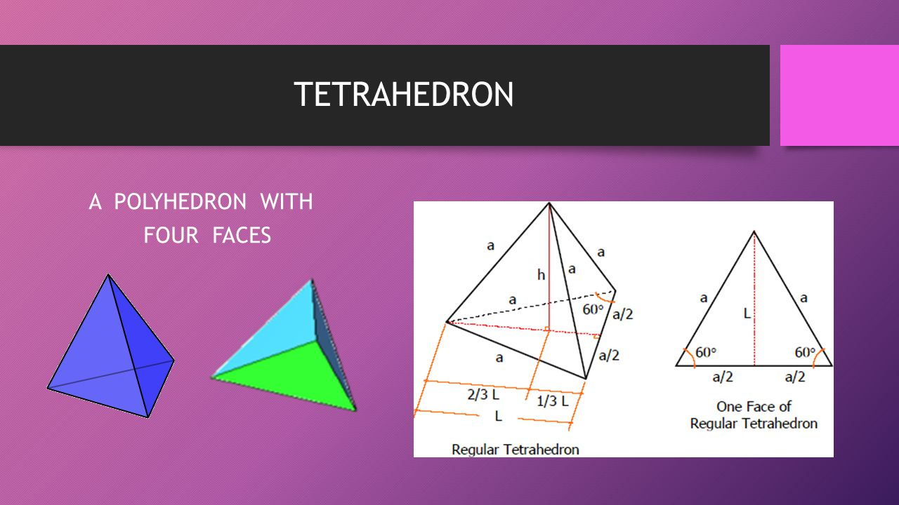 TETRAHEDRON A POLYHEDRON WITH FOUR FACES