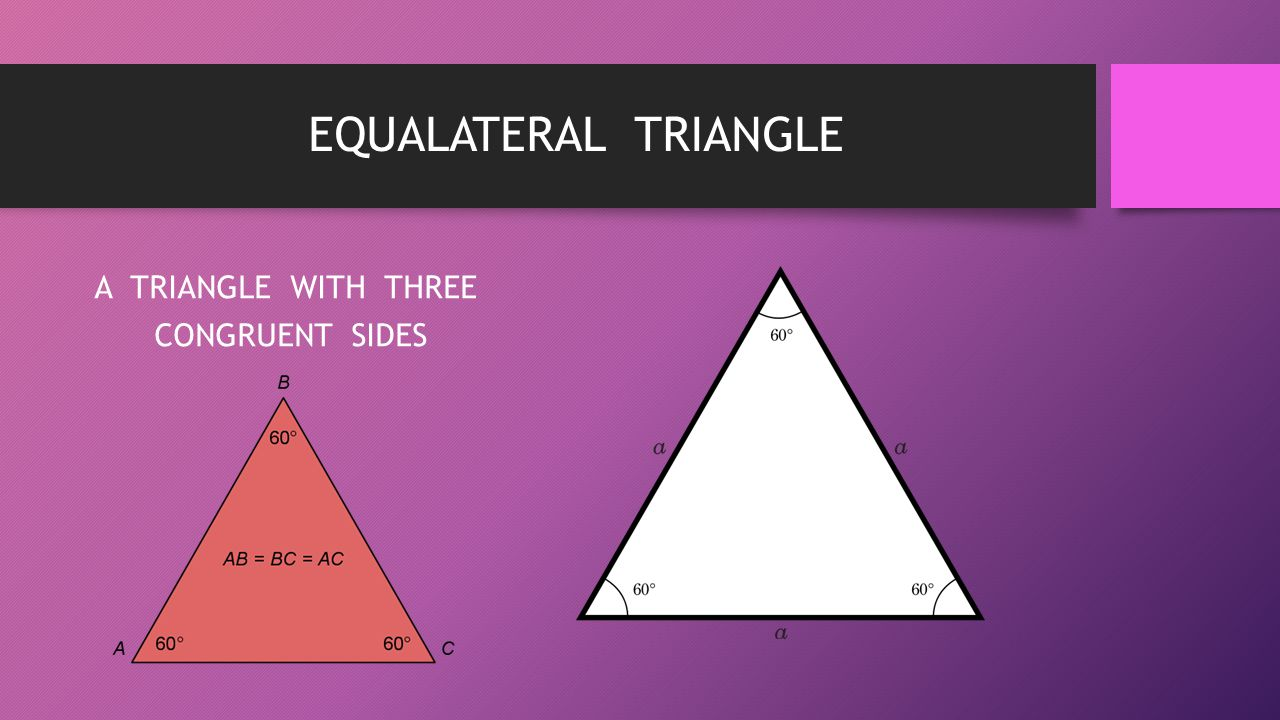 EQUALATERAL TRIANGLE A TRIANGLE WITH THREE CONGRUENT SIDES