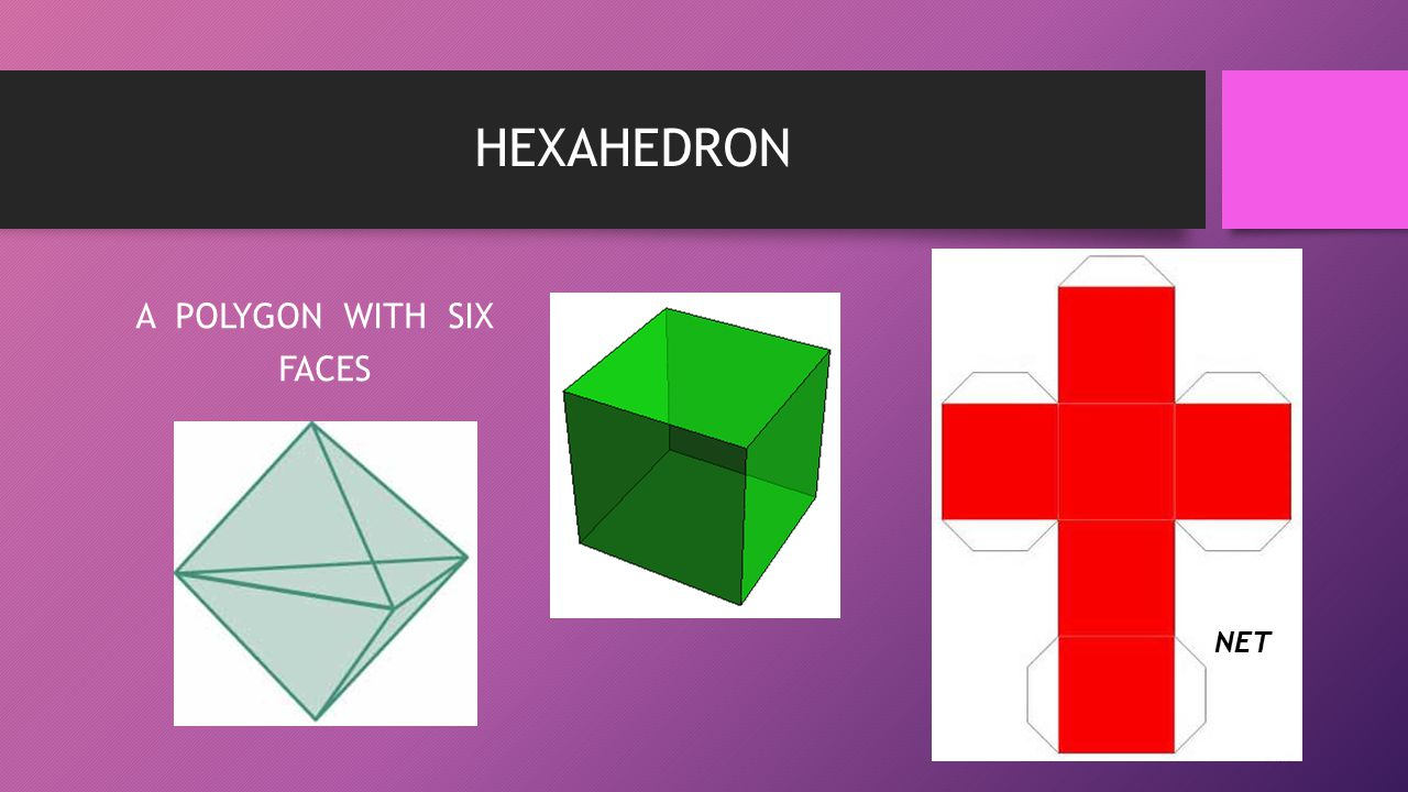 HEXAHEDRON A POLYGON WITH SIX FACES NET