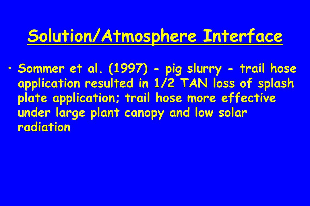 Solution/Atmosphere Interface Sommer et al.
