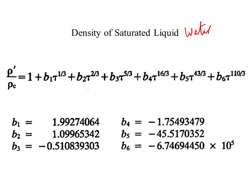 Many Constant Pressure Processes If all of the saturated liquid states are connected, the saturated liquid line is established.