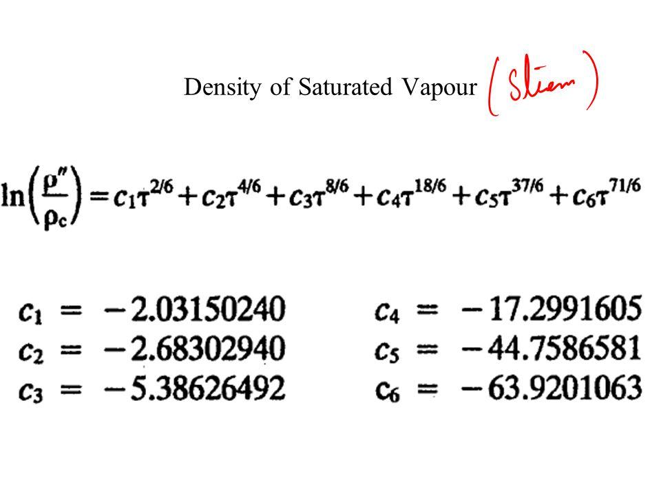 Density of Saturated Liquid