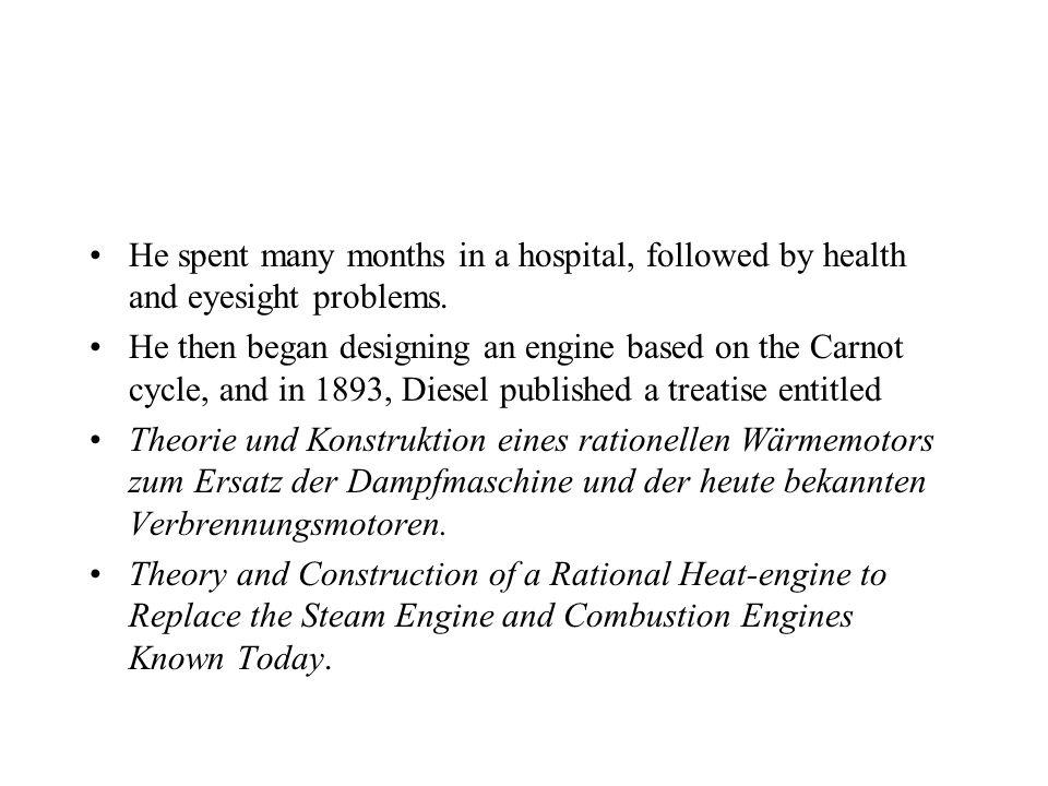 Rudolf Christian Karl Diesel Diesel was born in Paris, France in 1858 the second of three children of Elise and Theodor Diesel. At age 14, Rudolf wrot