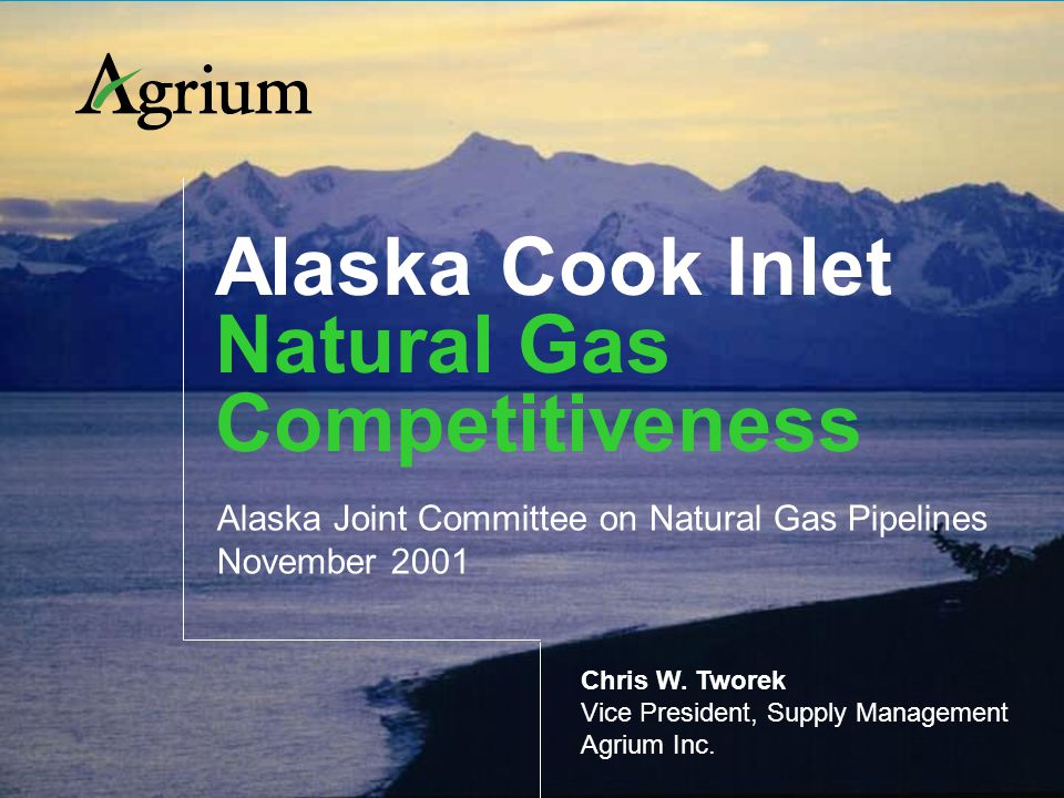 Alaska Cook Inlet Natural Gas Competitiveness Alaska Joint Committee on Natural Gas Pipelines November 2001 Chris W.