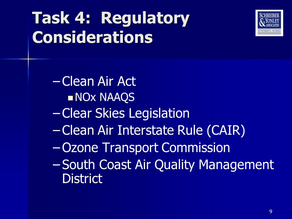 Other Regulatory Considerations Regional Haze (BART) –NOx affects PM 2.5 –PM 2.5 non-attainment areas –Regional Planning Organizations
