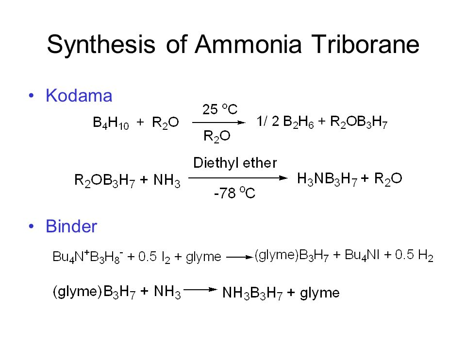 Figure 1 Acid-induced hydrogen release from ammonia triborane.