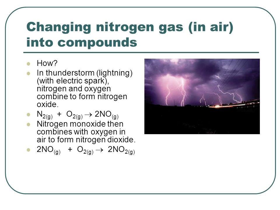 Changing nitrogen gas (in air) into compounds How.
