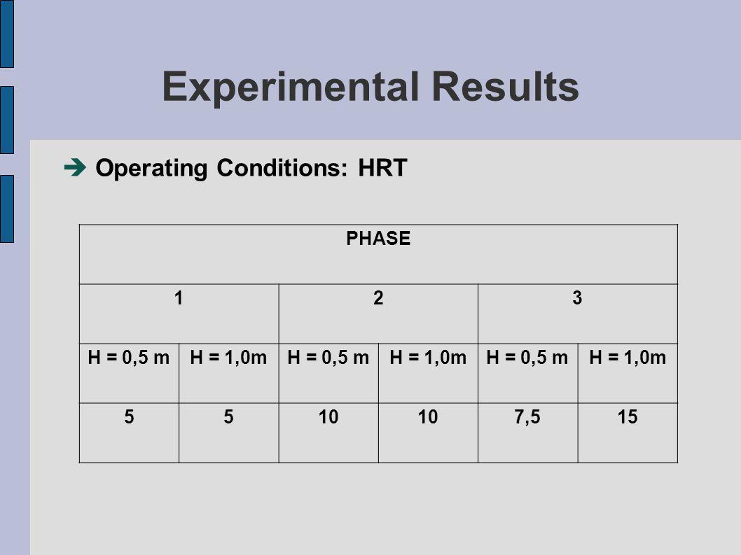 Results  Phase 01 – (HRT = 5 days)
