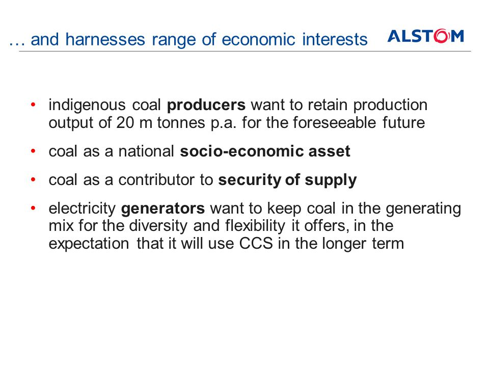 … and harnesses range of economic interests indigenous coal producers want to retain production output of 20 m tonnes p.a.