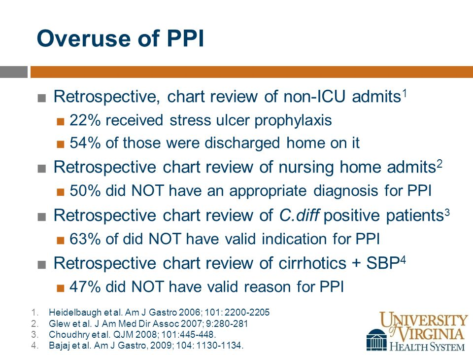 Stopping a PPI: Rebound Acid ■High Gastrin Levels ■Rebound Acid ■Step down therapy.