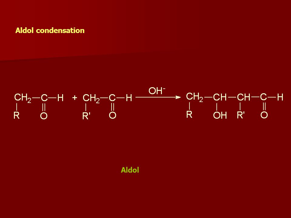 Aldol condensation Aldol