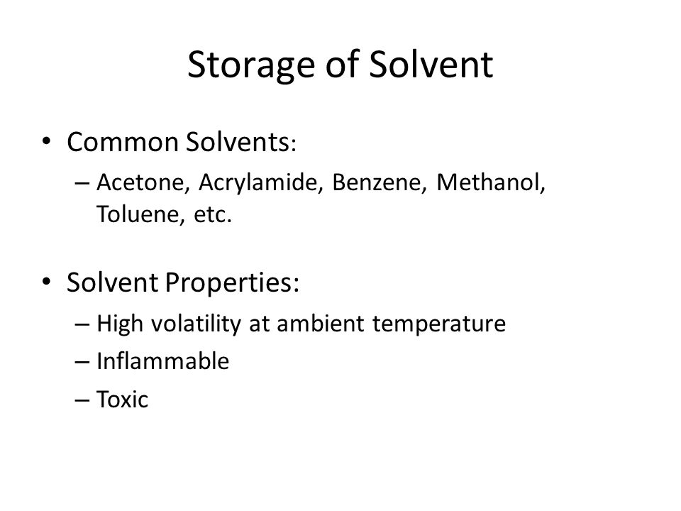 Difficulties faced Loss of solvent due to: – Breathing losses: Vapor pressure variation with temperature – Filling losses: Discharging and Refilling losses – Boiling losses: Vapor pressure higher than atmospheric pressure