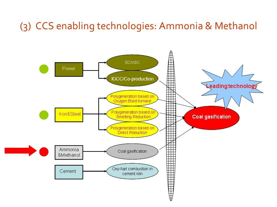 (3) CCS enabling technologies: Ammonia & Methanol Leading technology IGCC/Co-production