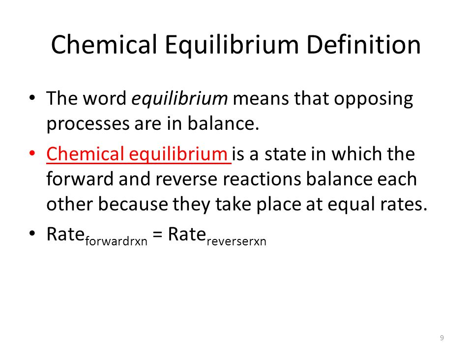 BE CAREFUL!!!.At equilibrium, the concentrations of reactants and products are constant.