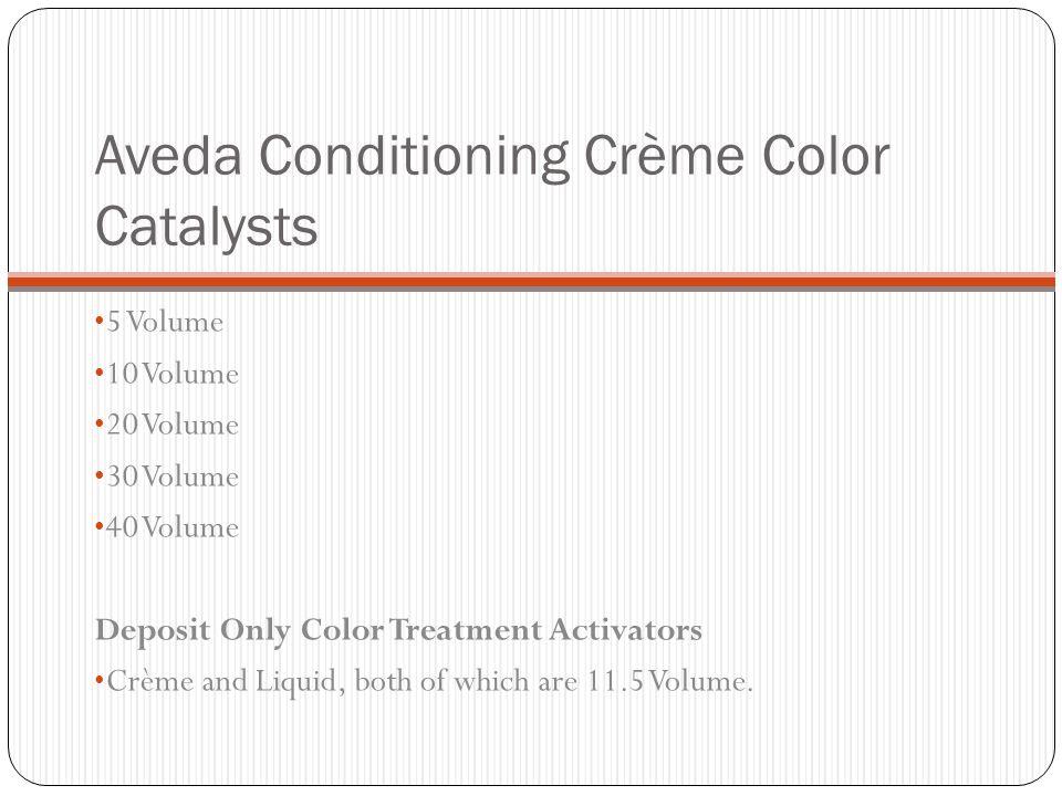 Aveda Conditioning Crème Color Catalysts 5 Volume 10 Volume 20 Volume 30 Volume 40 Volume Deposit Only Color Treatment Activators Crème and Liquid, bo