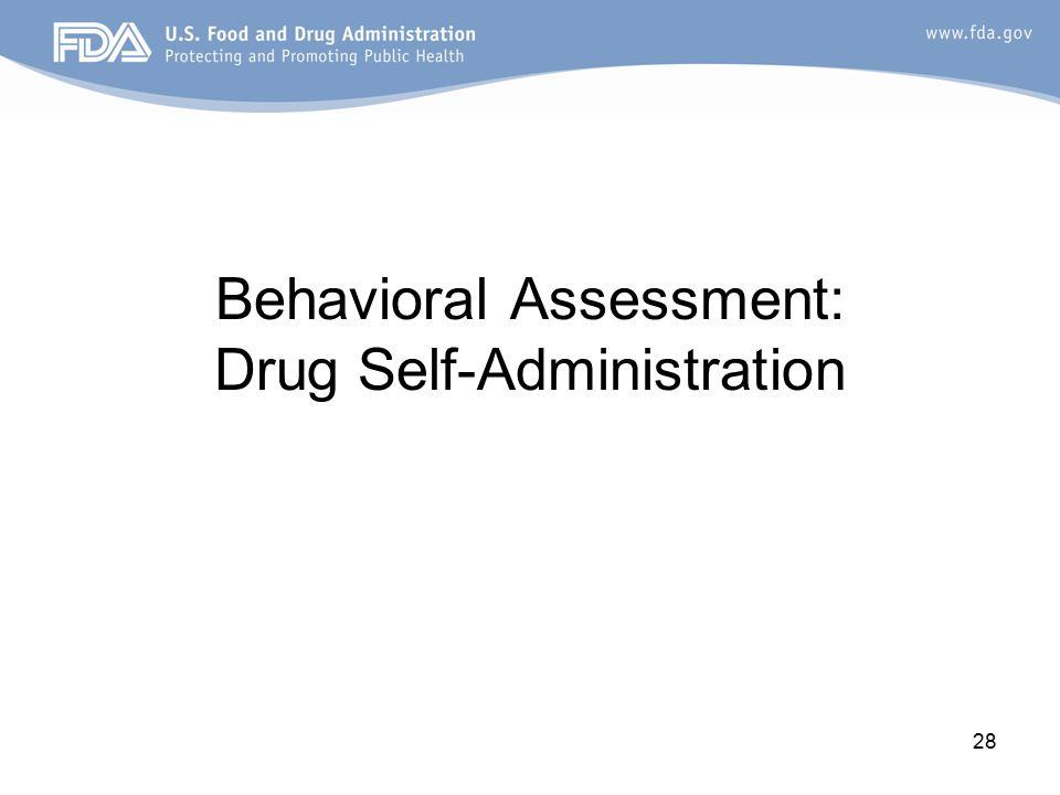 28 Behavioral Assessment: Drug Self-Administration