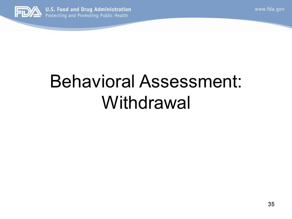 35 Behavioral Assessment: Withdrawal