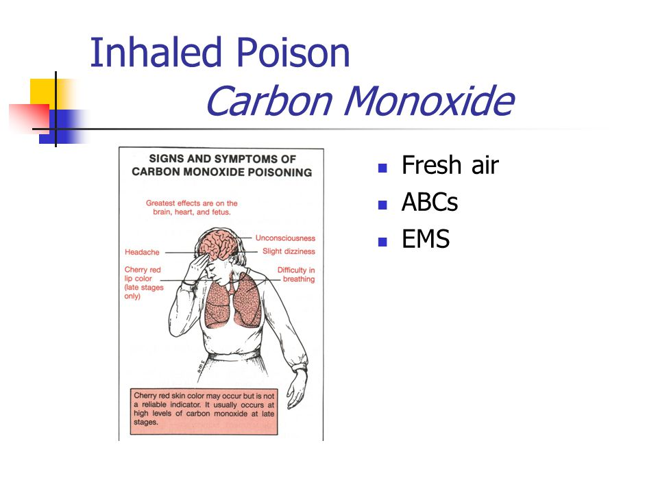 Treatment If unconscious: Activate EMS ABC's If conscious: Call Poison Control 800 222 1222 Dilute.