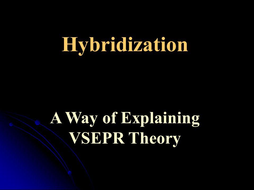 Hybridization A Way of Explaining VSEPR Theory