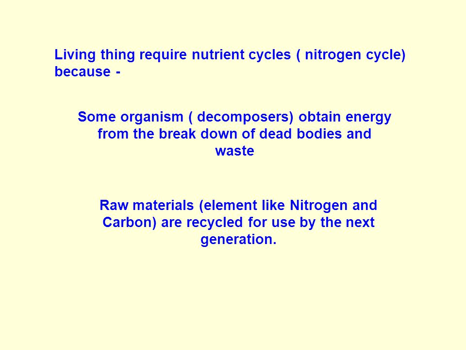 Nitrogen is present in plants in the form of PROTEIN.