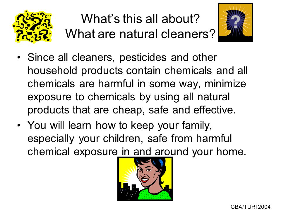 CBA/TURI 2004 How to Make Your Own Low- Cost, Safe & Effective Natural Cleaning & Pest Control Products.