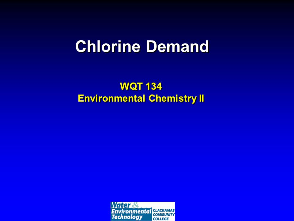 In Zone II chlorine reacts with ammonia to form combined chlorine ? 1.True 2.False 1.True 2.False
