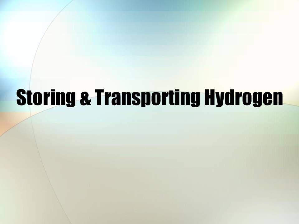 Storing & Transporting Hydrogen