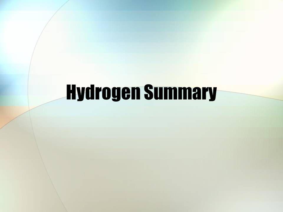 Hydrogen Summary