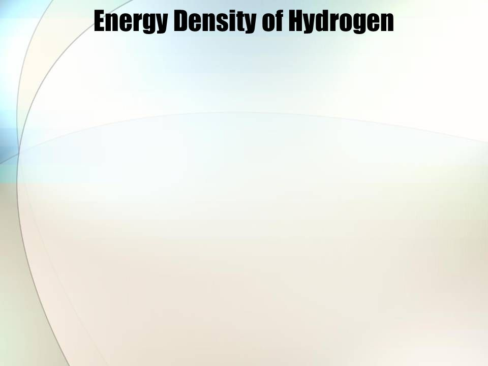 Energy Density of Hydrogen