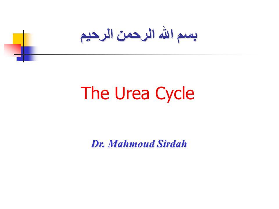 The Urea Cycle بسم الله الرحمن الرحيم Dr. Mahmoud Sirdah Dr. Mahmoud Sirdah