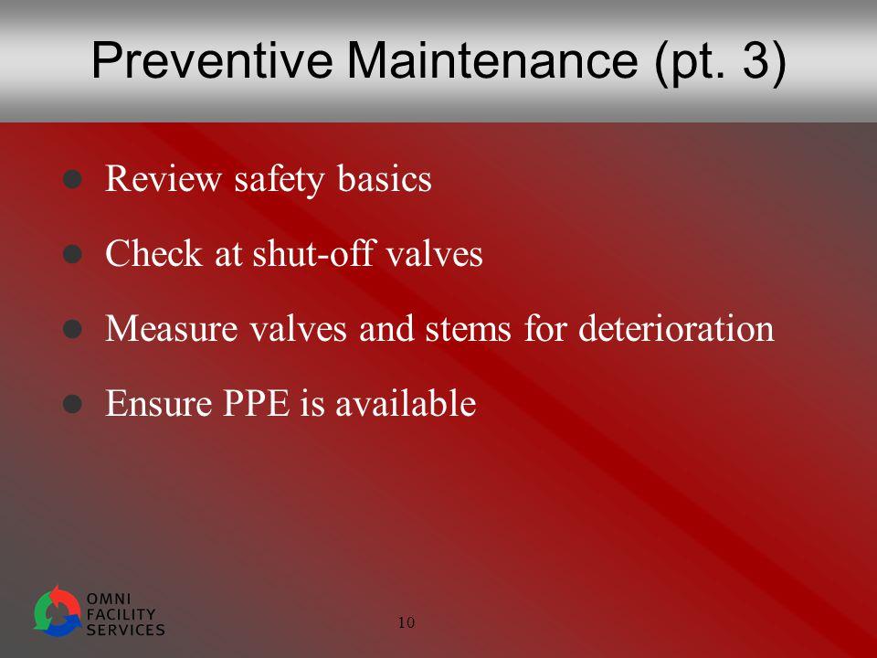 10 Preventive Maintenance (pt.
