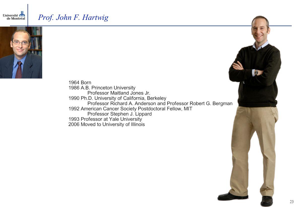 23 Prof. John F. Hartwig