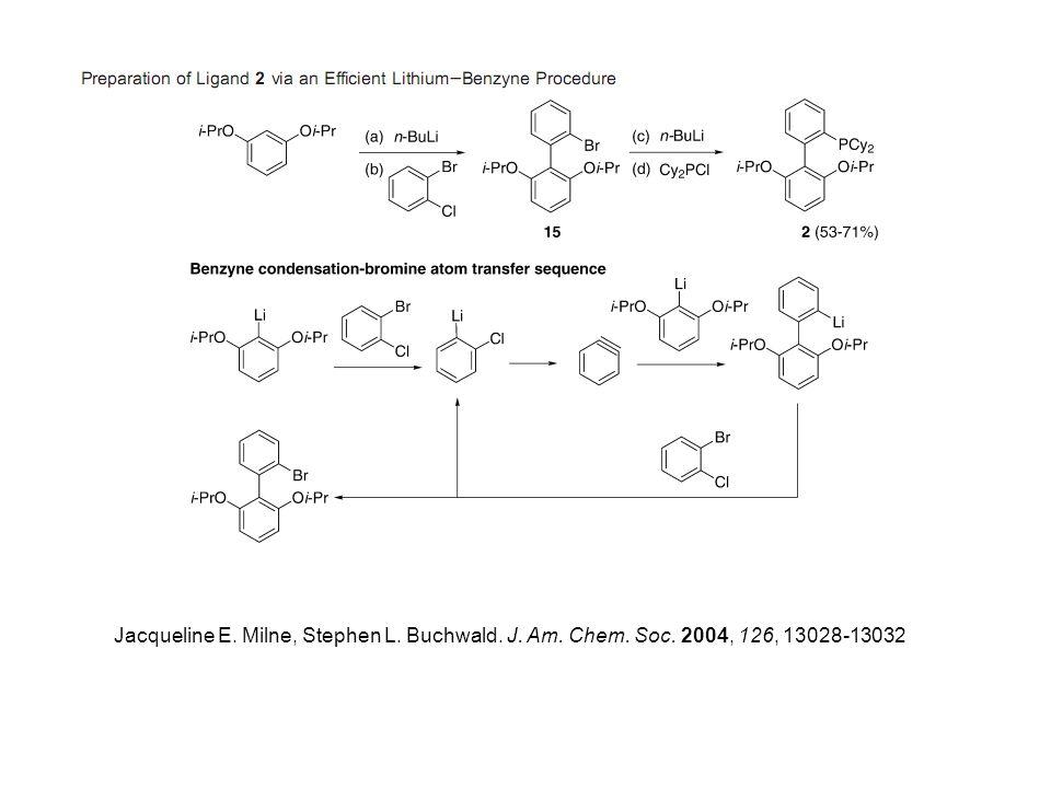 Jacqueline E. Milne, Stephen L. Buchwald. J. Am. Chem. Soc. 2004, 126, 13028-13032
