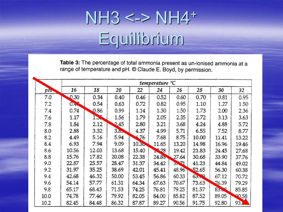 NH3 NH4 + Equilibrium