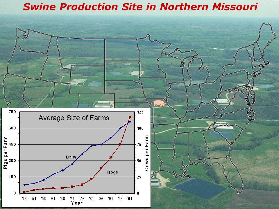 Swine Production Site in Northern Missouri Average Size of Farms