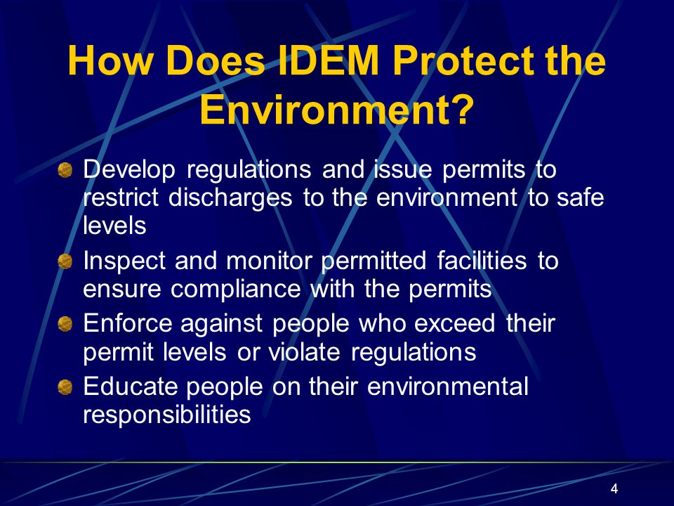 4 How Does IDEM Protect the Environment.