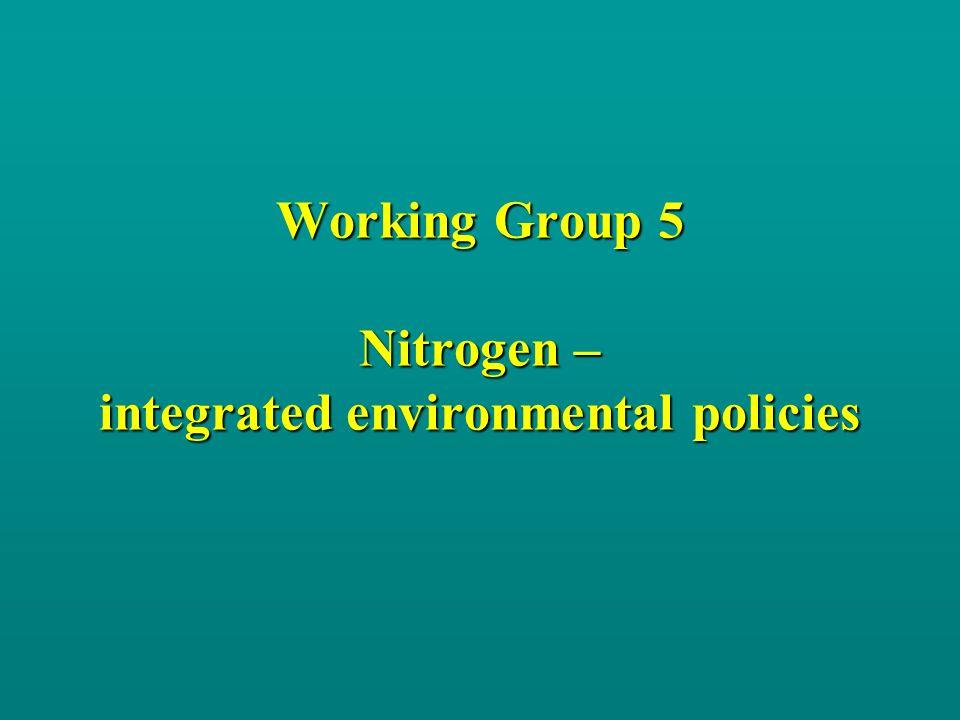 The Working Group JW.Erisman, T. Spranger, MA. Sutton, M.