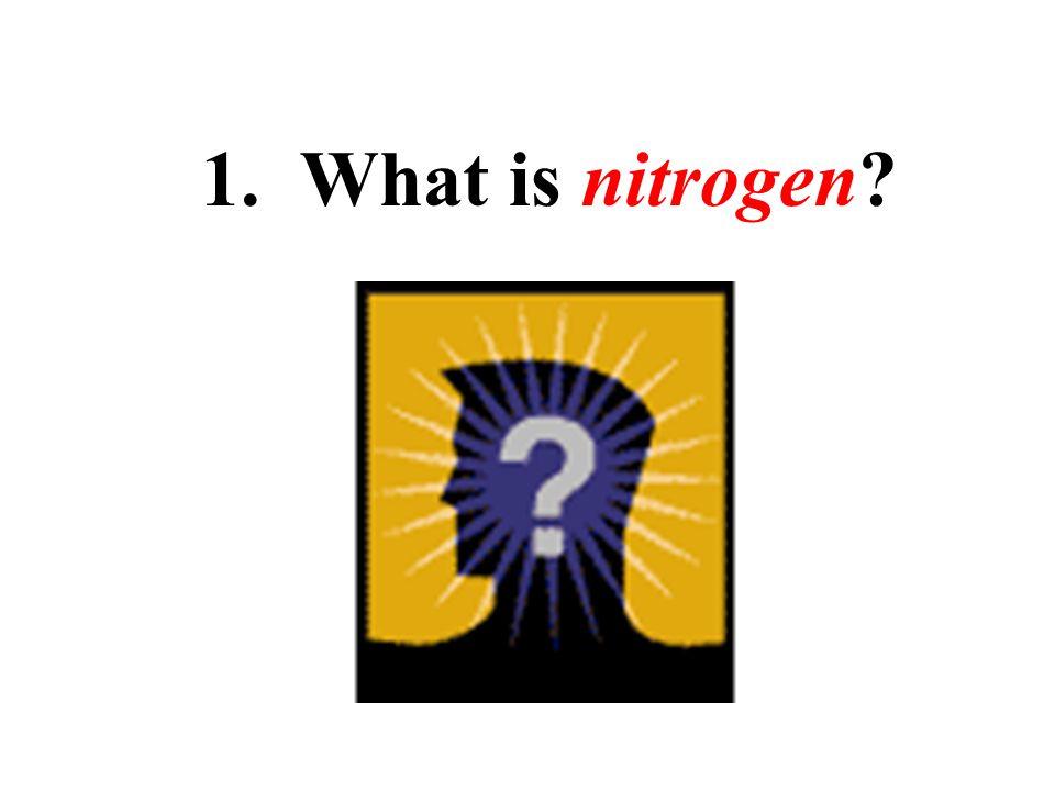 1. What is nitrogen?