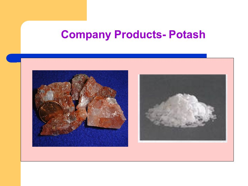 Company Products- Potash