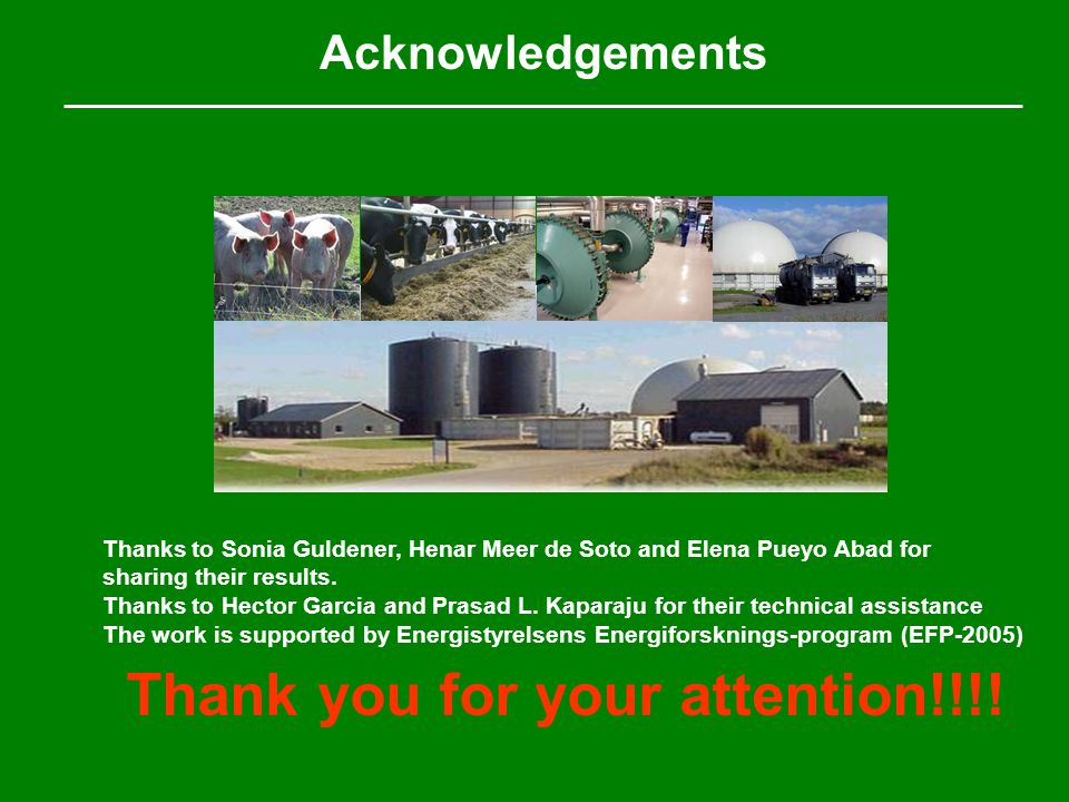 Acknowledgements Thanks to Sonia Guldener, Henar Meer de Soto and Elena Pueyo Abad for sharing their results.