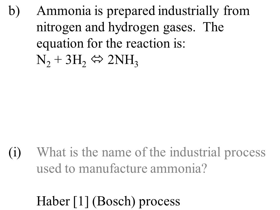 (ii)Ammonia sulphate reacts with sodium hydroxide when heated.