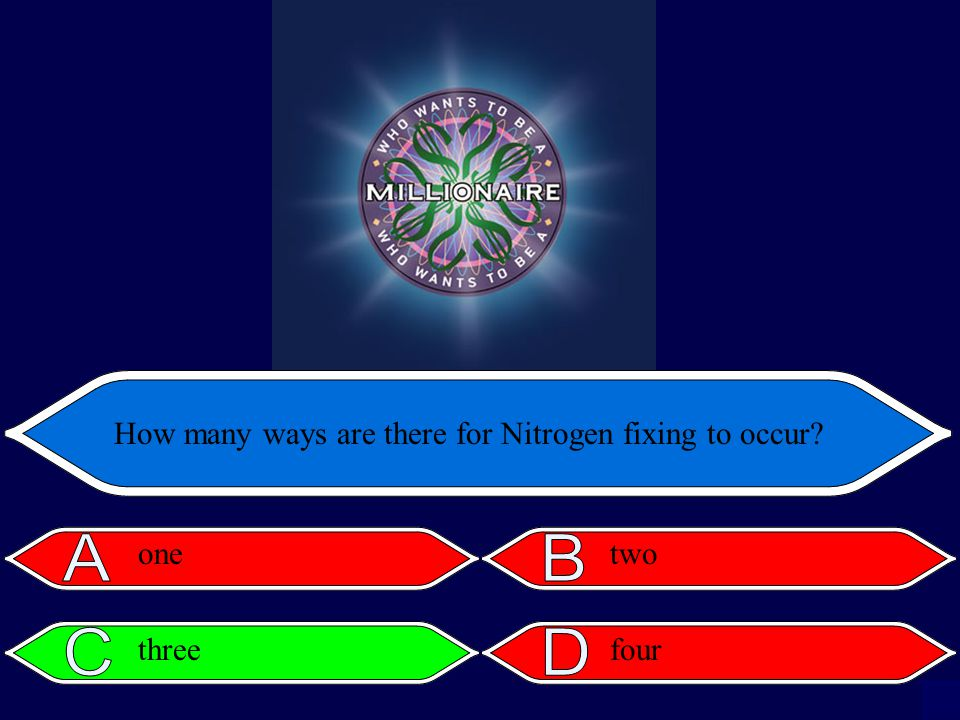How many ways are there for Nitrogen fixing to occur onetwo threefour