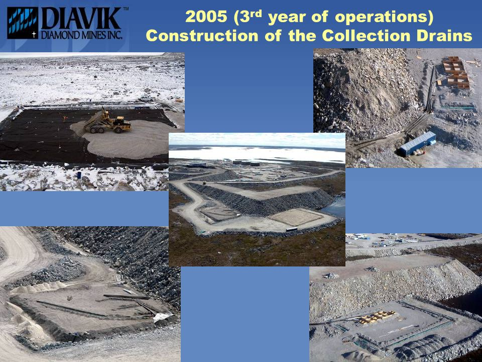 2005 (3 rd year of operations) Construction of the Collection Drains