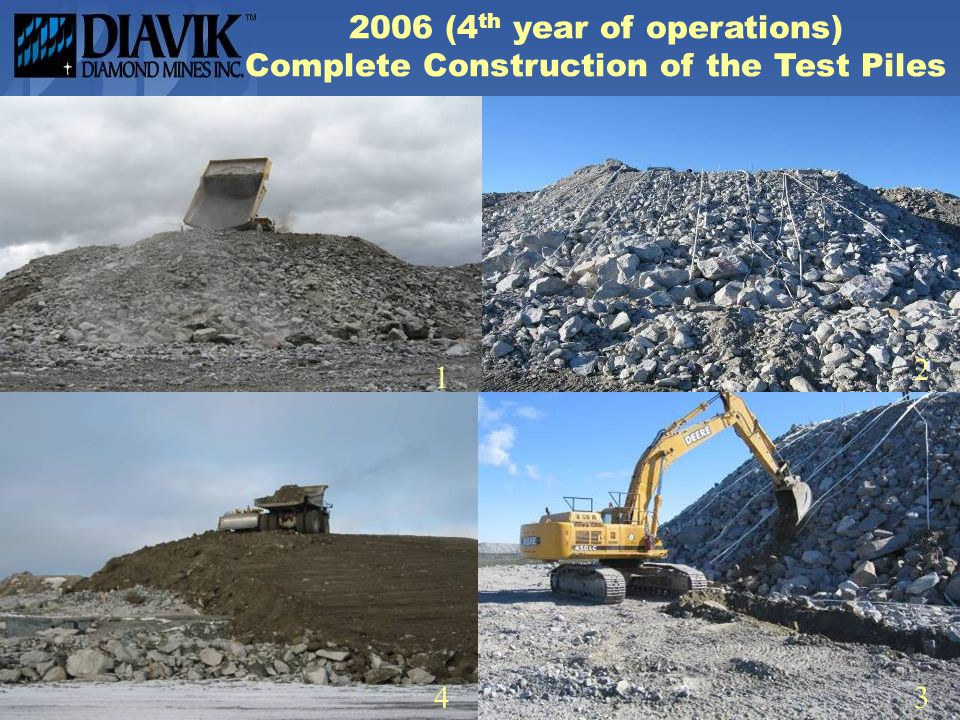 2006 (4 th year of operations) Complete Construction of the Test Piles 1 43 2