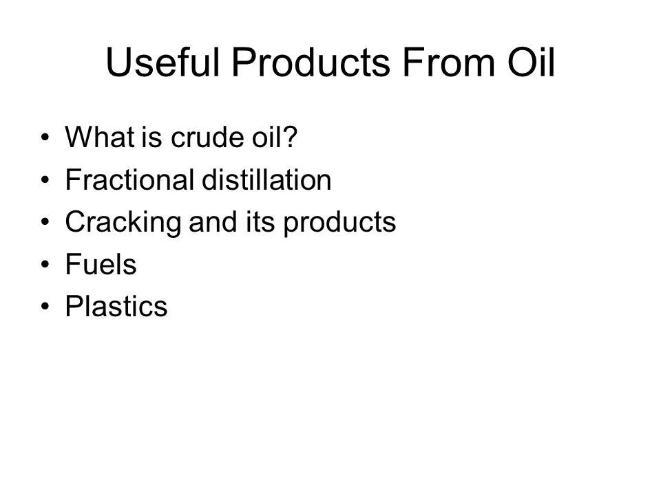 What is crude oil.Crude oil is a mixture of a very large number of compounds.