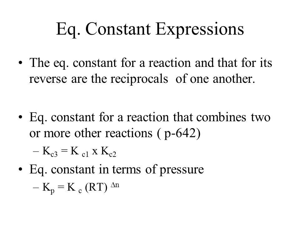 Eq.Constant Expressions The eq.