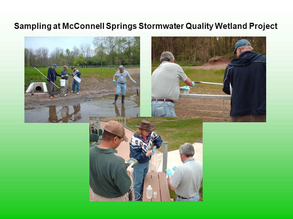 Sampling at McConnell Springs Stormwater Quality Wetland Project