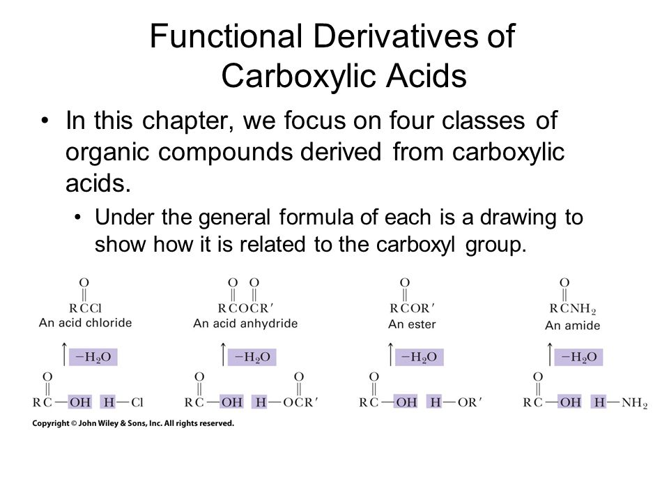 Parent Names of Carboxylic Derivatives
