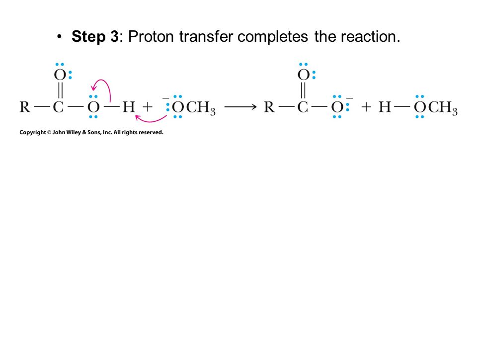 Step 3: Proton transfer completes the reaction.