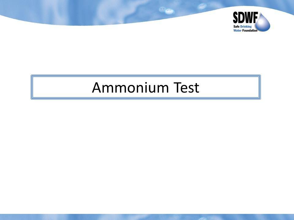 Ammonium Test
